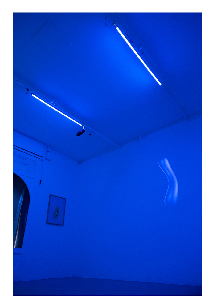 Installation shot of Anomalies in the flux of normal things, Nowhere Gallery, Milan 2018 - collaboration Beyond Beyond