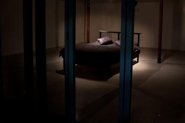 Process shot: The Sleep Collection. Islington Mill, Salford 2012